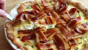 Bacon breakfast pie